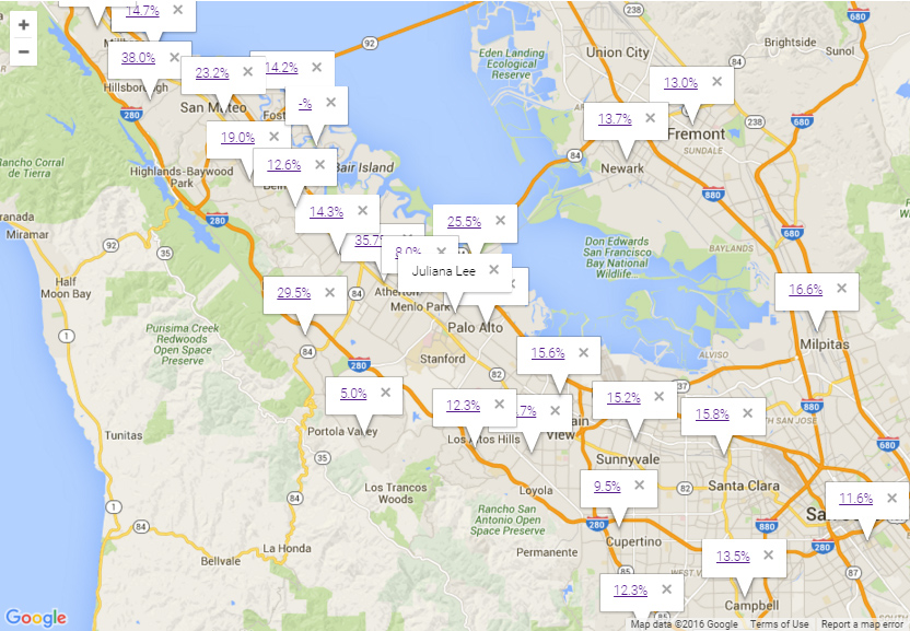 Map to Silicon Valley Real Estate Market Trends